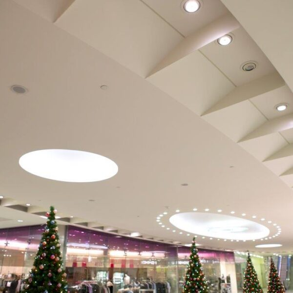 Canary Wharf Mall, ceiling features by Gillespie UK
