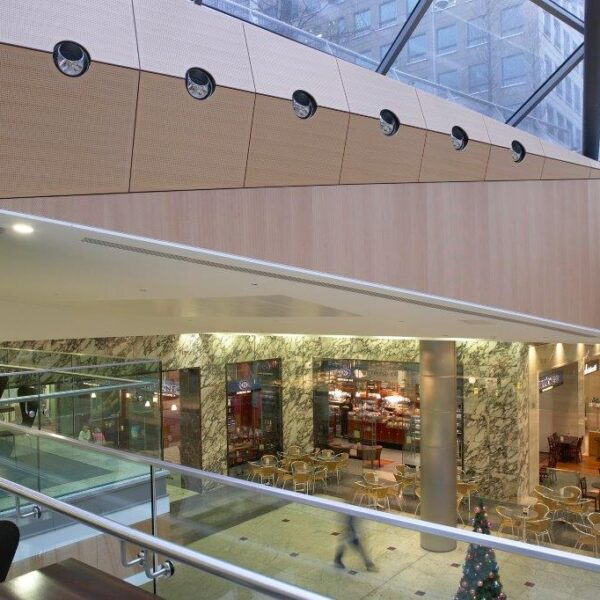 Canary Wharf Mall, Wall cladding by Gillespie UK